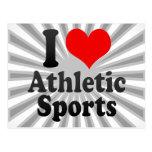 I love Athletic Sports Postcard