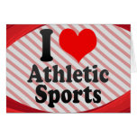 I love Athletic Sports Stationery Note Card