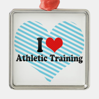 I Love Athletic Training Christmas Ornament