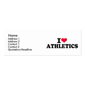 I love athletics business cards
