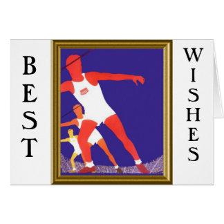 I love athletics greeting card