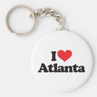 I Love Atlanta Basic Round Button Key Ring