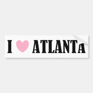 I Love Atlanta Bumper Sticker