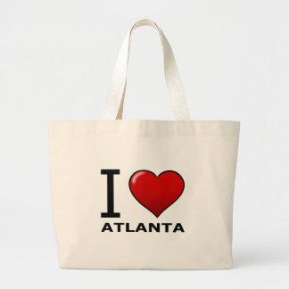 I LOVE ATLANTA,GA - GEORGIA TOTE BAG