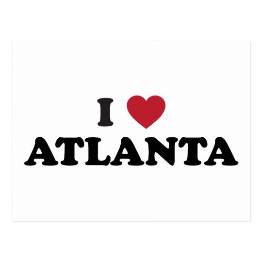 I Love Atlanta Georgia Postcard