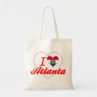 I Love Atlanta, Missouri Canvas Bags