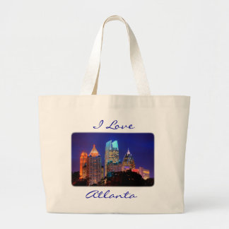 I Love Atlanta Skyline Canvas Budget Totebag Bags