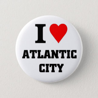 I love Atlantic City 6 Cm Round Badge