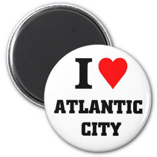 I love Atlantic City 6 Cm Round Magnet
