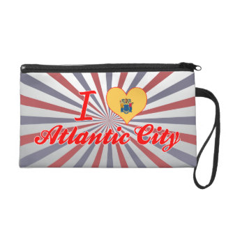 I Love Atlantic City, New Jersey Wristlet Clutches