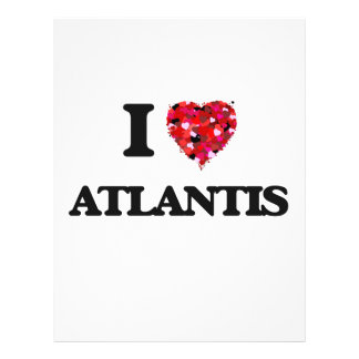 I love Atlantis 21.5 Cm X 28 Cm Flyer