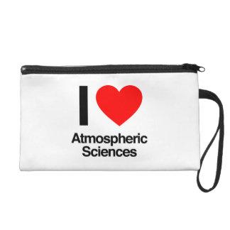 i love atmospheric sciences wristlet clutches