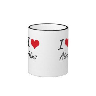 I Love Atms Artistic Design Ringer Mug