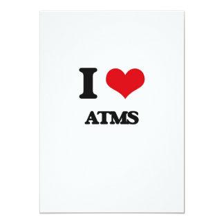 "I Love Atms 5"" X 7"" Invitation Card"