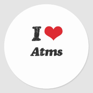 I Love Atms Sticker