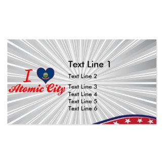I Love Atomic City, Idaho Business Card Template