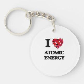 I Love Atomic Energy Single-Sided Round Acrylic Key Ring
