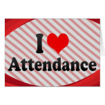 I love Attendance Cards