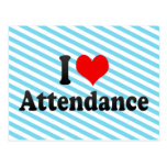 I love Attendance Post Card