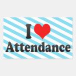 I love Attendance Sticker