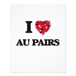 I love Au Pairs 11.5 Cm X 14 Cm Flyer