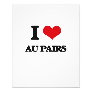 I love Au Pairs Flyers