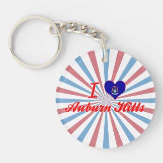 I Love Auburn Hills Michigan Key Chains
