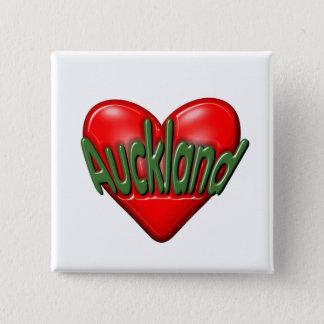 I Love Auckland 15 Cm Square Badge