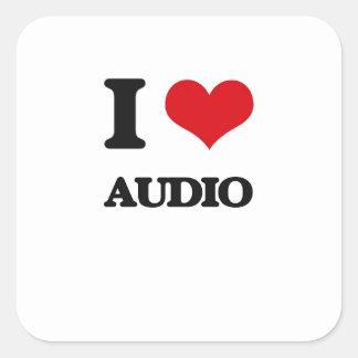 I Love Audio Square Sticker