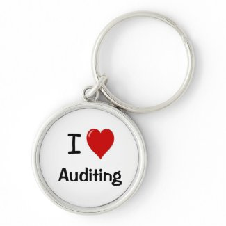 I Love Auditing - I Heart Auditing Key Chain
