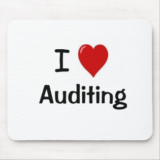 I Love Auditing - I Heart Auditing Mouse Mat