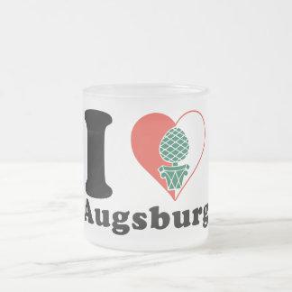 I love Augsburg Frosted Glass Mug