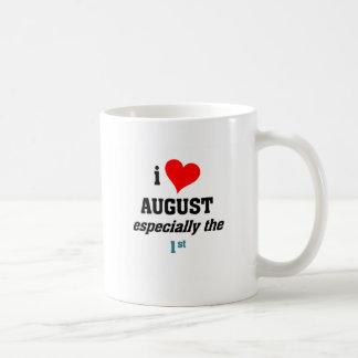 I love august 1st basic white mug