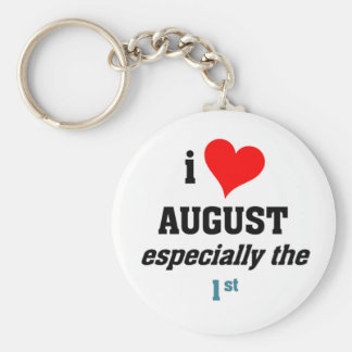 I love august 1st key chain