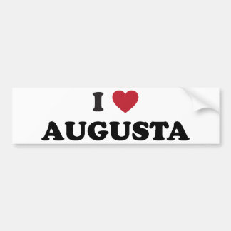 I Love Augusta Georgia Bumper Sticker