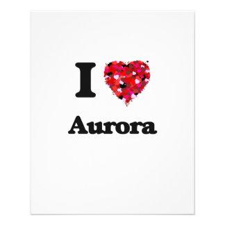 I love Aurora Colorado 11.5 Cm X 14 Cm Flyer