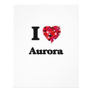 I love Aurora Colorado 21.5 Cm X 28 Cm Flyer