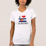 I Love AURORA Colorado Tee Shirts