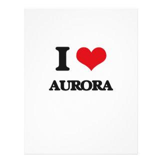 I love Aurora Full Color Flyer