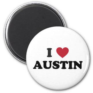 I Love Austin 6 Cm Round Magnet