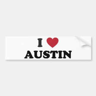 I Love Austin Bumper Sticker