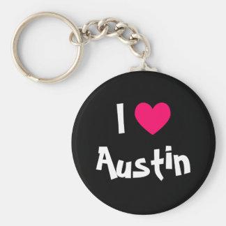 I Love Austin Texas Key Ring
