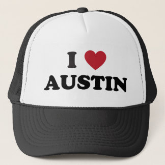 I Love Austin Trucker Hat