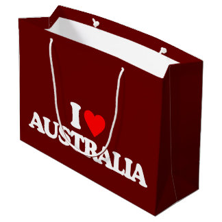 I LOVE AUSTRALIA LARGE GIFT BAG