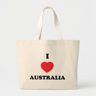 I LOVE Australia Large Tote Bag