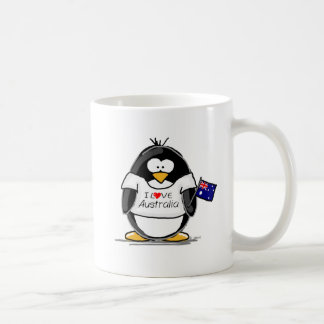 I Love Australia Penguin Coffee Mug