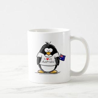 I Love Australia Penguin Coffee Mug