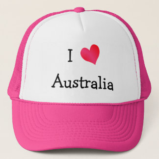 I Love Australia Trucker Hat