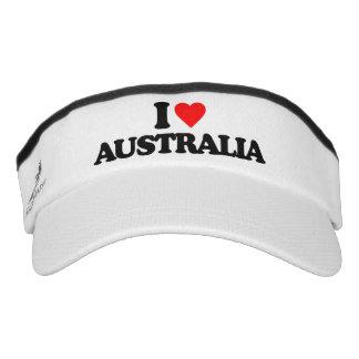I LOVE AUSTRALIA VISOR