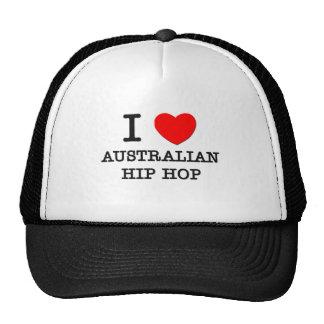 I Love Australian Hip Hop Mesh Hats